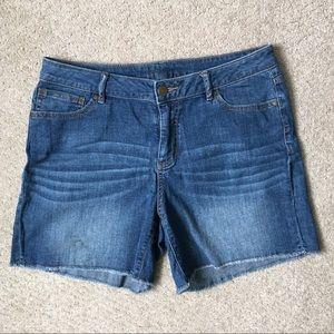 Jennifer Lopez Cut-off Style Jean Shorts